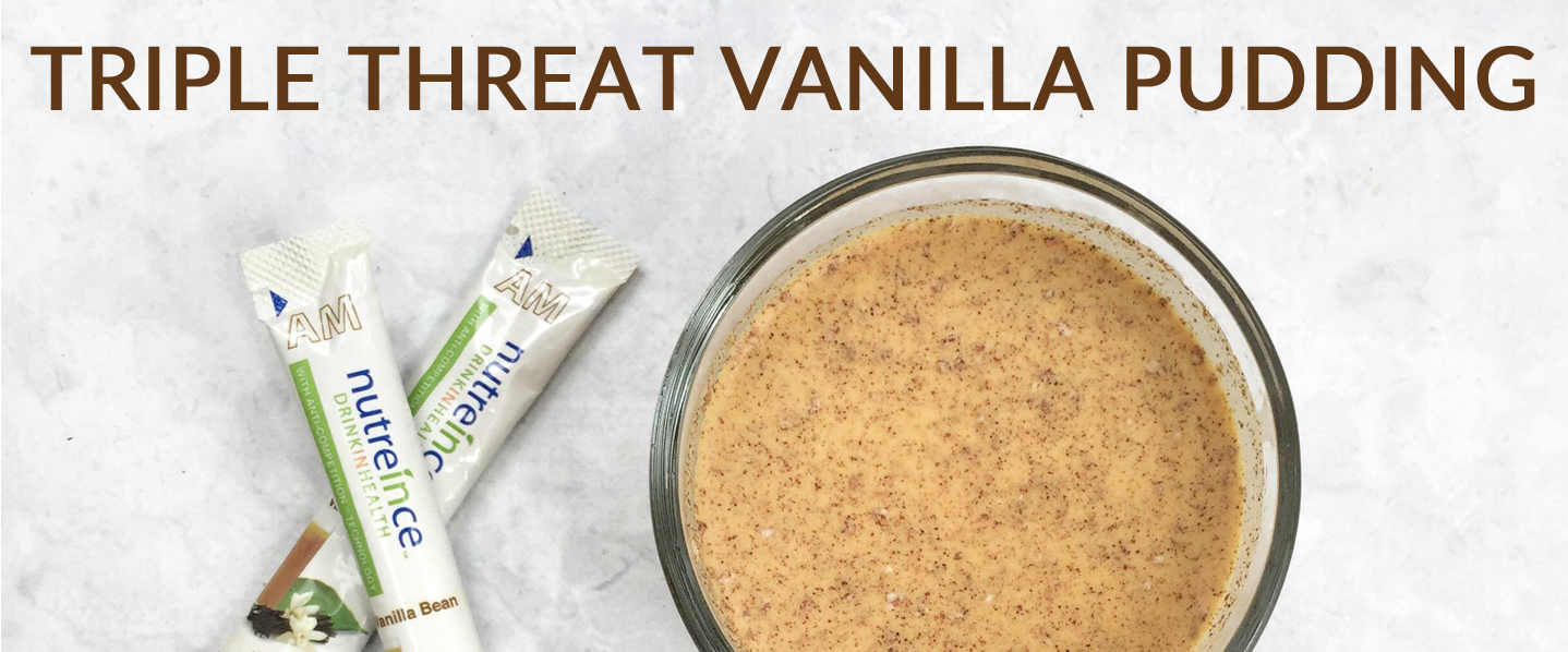 Vanilla triple threat pudding CaltonNutrition.com
