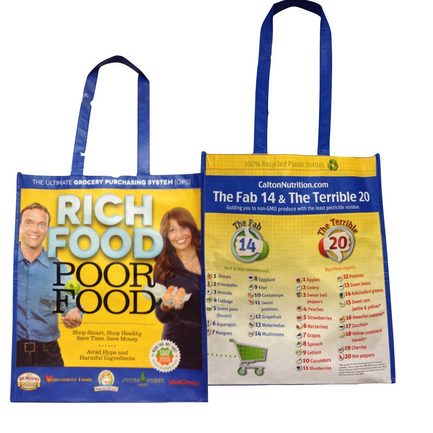 Rich Food Poor Food Tote Bags