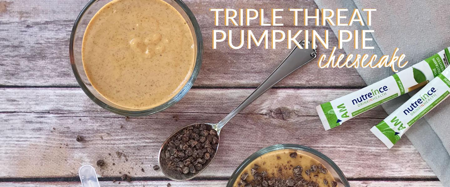 Triple Threat Pumpkin Pie Cheesecake